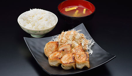 アグー焼餃子定食(5個入)
